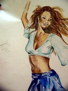 beyonce colour sketch